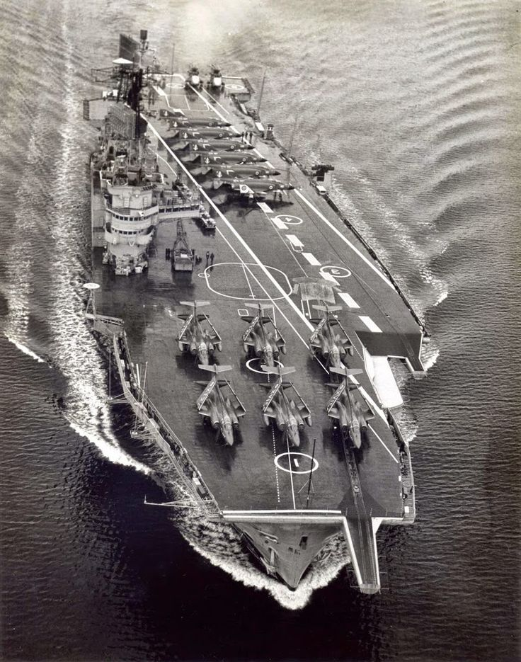 HMS Ark Royal (1972). My ship (USS Franklin D Roosevelt (CV-42) operated in the Caribbean with this ship in early Feb, 1972. British warplanes landed aboard Roosevelt and some of our aircraft landed aboard Ark Royal. Then, they took off and landed aboard their own ships.