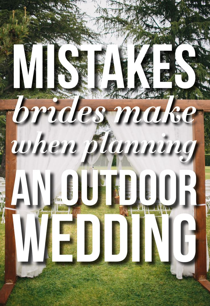If you're throwing an outdoor wedding...