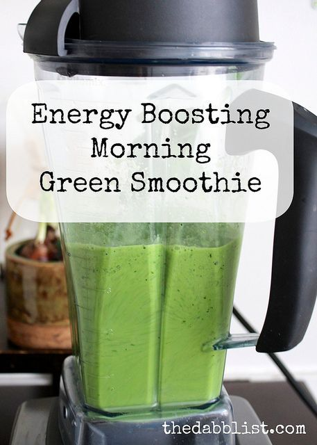 Energy Boosting Morning Green Smoothie Recipe