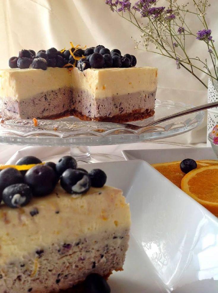 Receta de Cheesecake de Naranja y Arandanos