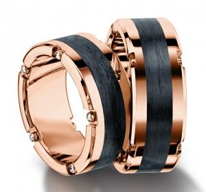 Furrer-Jacot carbon fiber wedding rings 71-84160_RG
