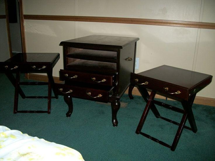Ethan Allen Classics Mahogany TV Tray Table Cabinet. It Is ...