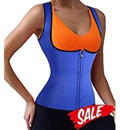 Neoprene Women Fat Burner Hot Sauna Shaper Gridle Waist Trainer Vest With Zipper (S, Black)