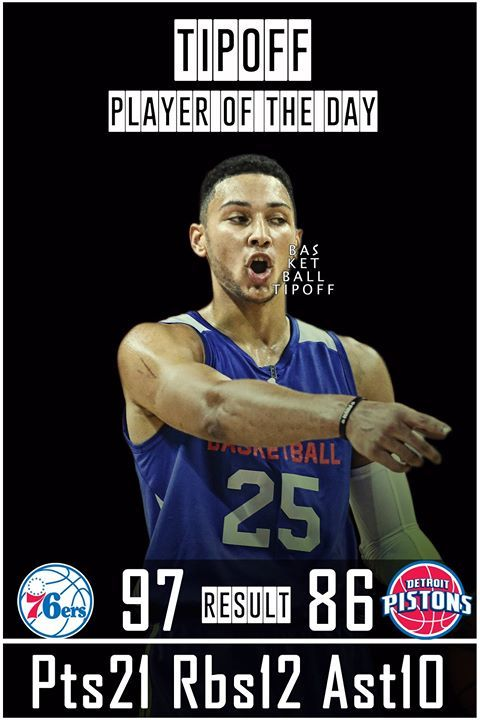 Ben Simmons (ROY) leads his team with triple-double. As Sixers beat Pistons 97 to 86.  The Philadelphia 76ers expect to make the playoffs this season but at the moment they still need to improve.   Simmons has grown with every performance. He will not be an all-star because the voting has changed again for the second season in a row but Simmons is likely to have All-Star level performances throughout the season.   Ben Simmons and Lonzo Ball could turnout into having Magic Johnson and Jason…