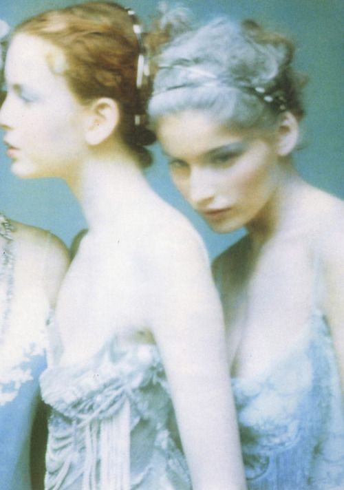 Photographed by Paolo Roversi for Vogue Italia February 1998 Look like fairies.....