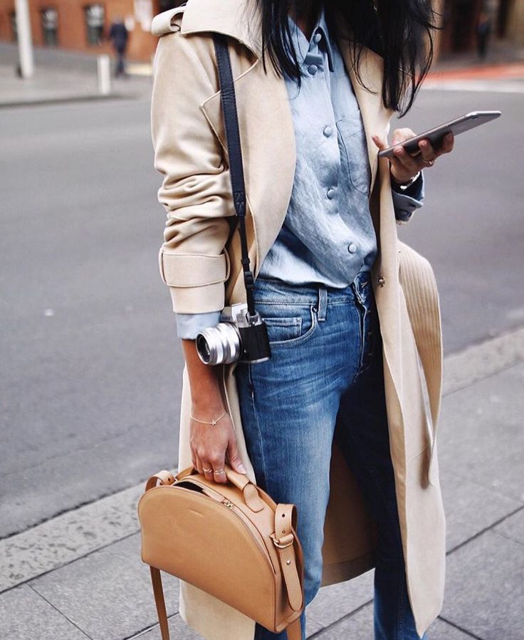 Double denim and trench
