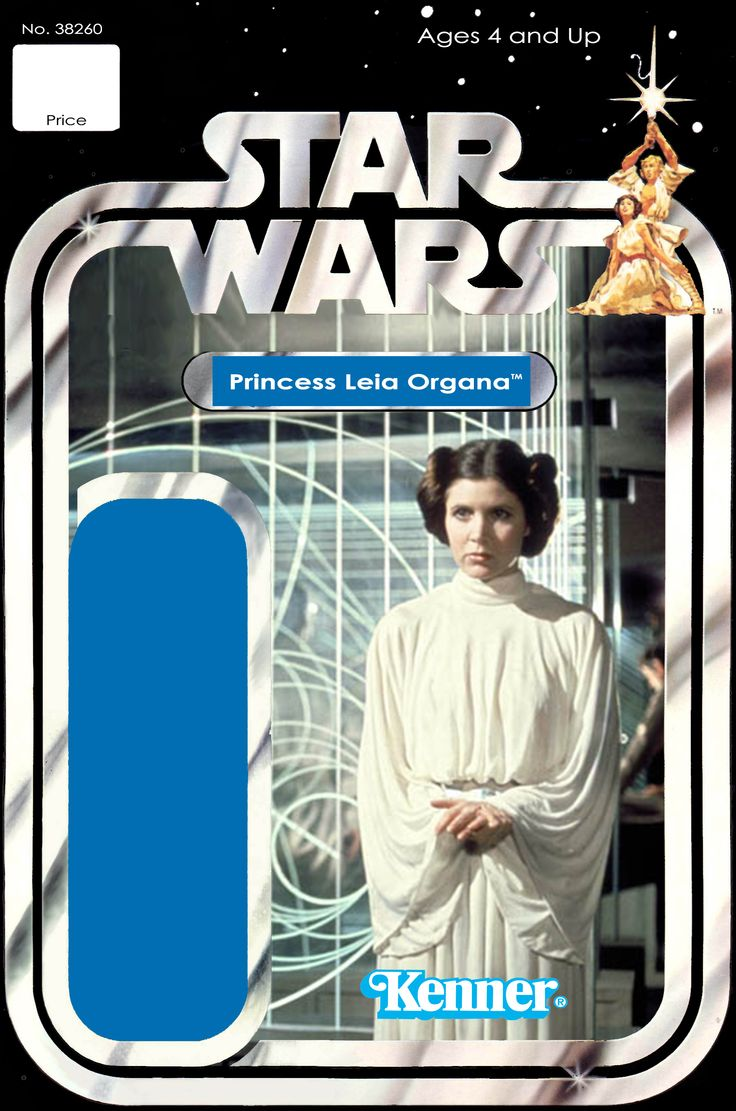 Princess Leia Customized Action Figure Card Back Recard -5998