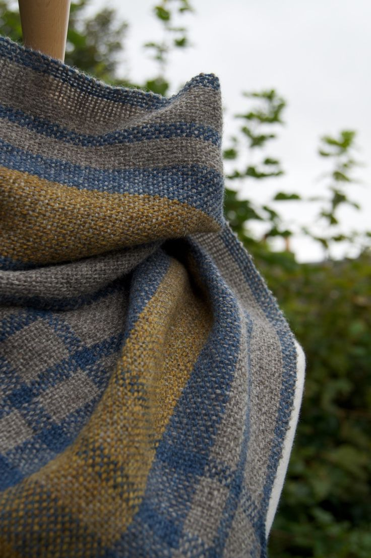 Sun Through Clouds Cowl Grey Handwoven by Weft Blown