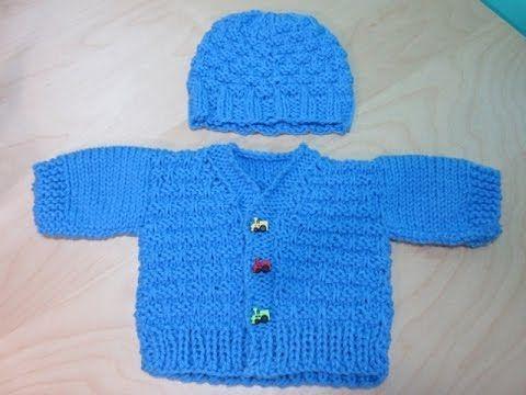 Abrigo para Bebé Recién Nacido en Dos Agujas / Video Tutorial   Crochet y Dos agujas - Patrones de tejido