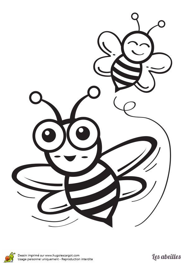 Très Les 25 meilleures idées de la catégorie Coloriage abeille sur  GU47