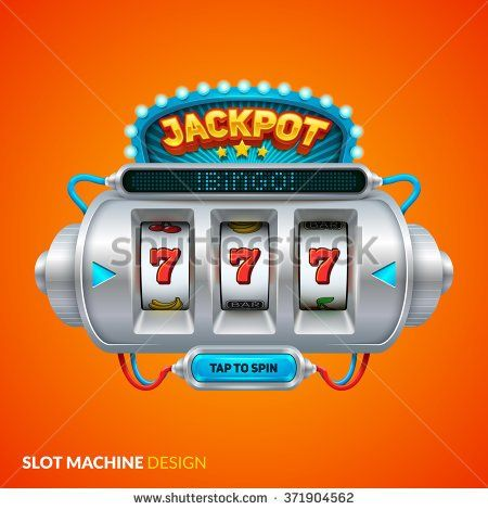 Futuristic slot machine illustration - stock vector