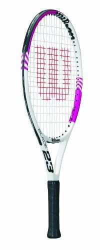 Wilson Blade Junior Recreational Tennis Racket (White/Pink, 23-Inch) by Wilson. $39.59. The Wilson® Blade junior tennis racquet is an all-star choice for the young and competitive player who's looking for precise control. It is lightweight and ideal for kids of all ages.