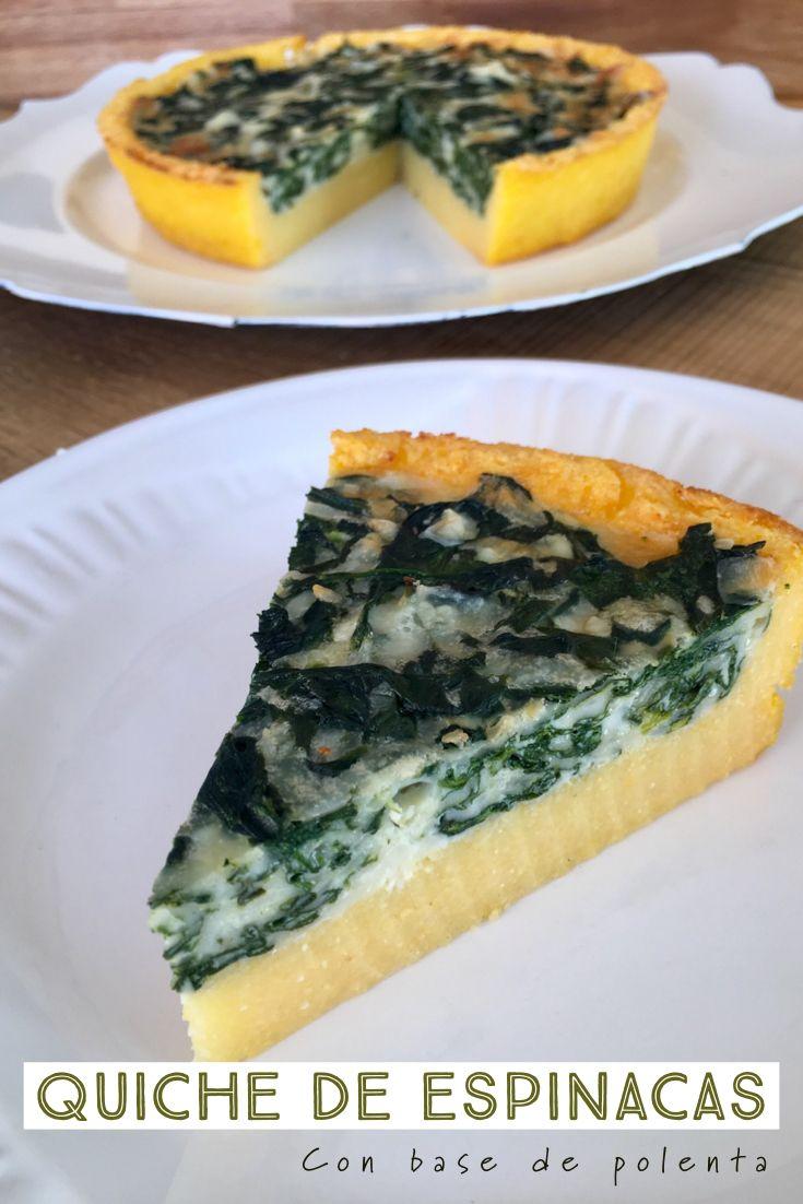 Quiche de Polenta and Spinach Veggie Recipes, Gourmet Recipes, Cooking Recipes, Healthy Recipes, Snack Recipes, Polenta Recipes, Quiches, Quick Easy Vegan, Good Food