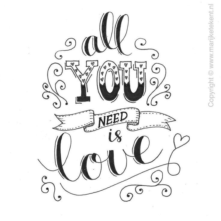 531 vind-ik-leuks, 21 reacties - Marijke Vanhommerig (@marijketekent) op Instagram: 'Day 5/31 #dutchlettering. Let's spread some love! ----------------------------------------…'