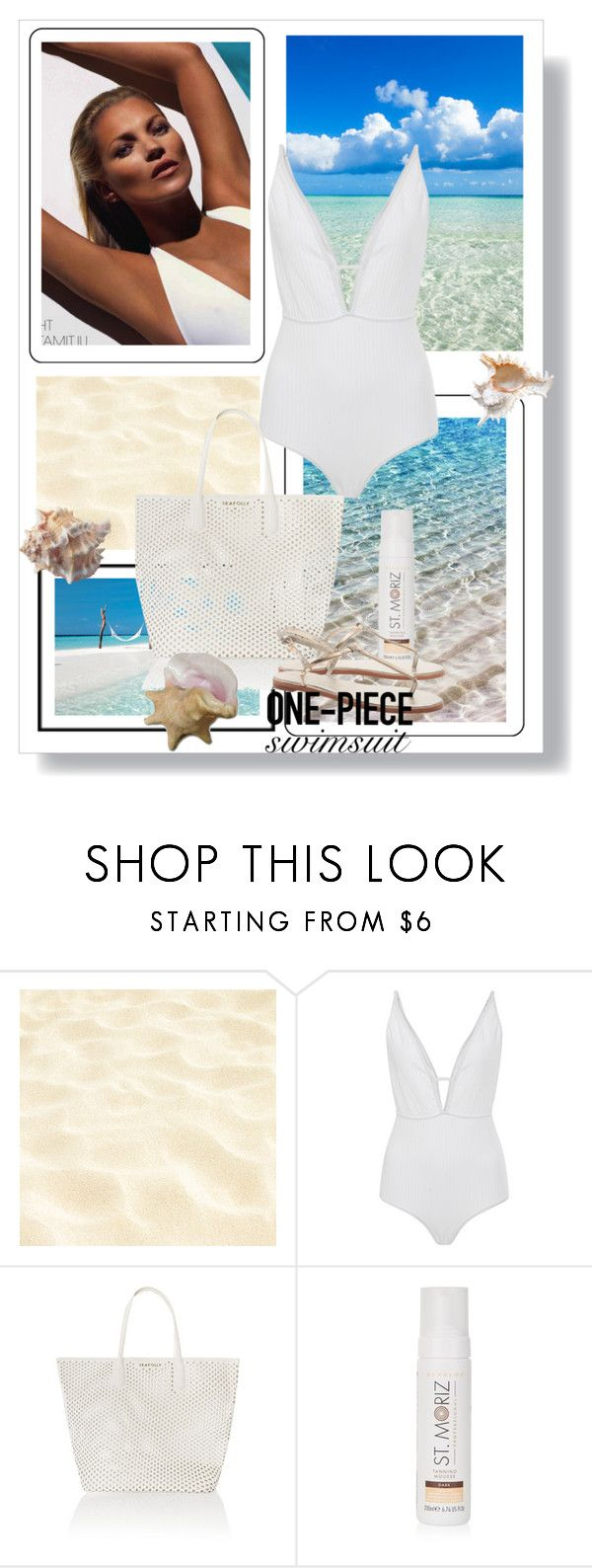 """""""Get the Look: Swimsuit Edition"""" by dezaval ❤ liked on Polyvore featuring Zimmermann, Seafolly, New Look, GetTheLook, Swimsuits and onepieceswimsuit"""