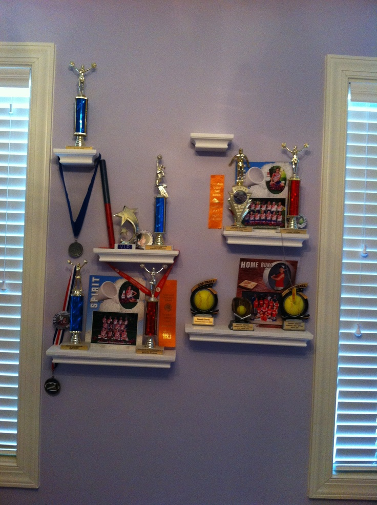 Great way to display trophies and medals room ideas for Display bedroom ideas