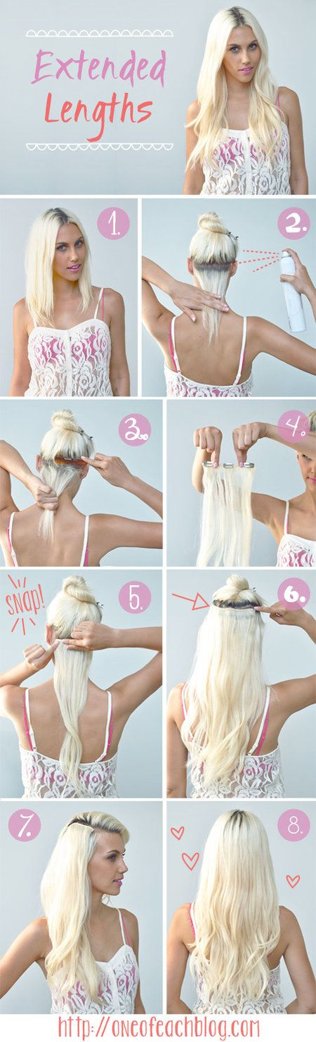 Hair Extension Tutorial - bellashoot.com