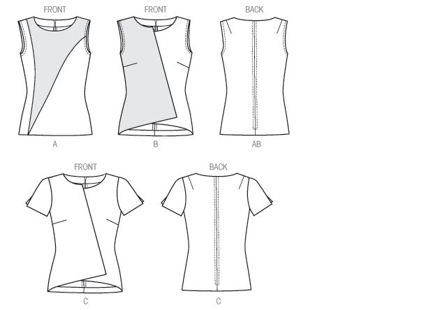 Vogue Patterns 9004 Misses' Top Line Drawing