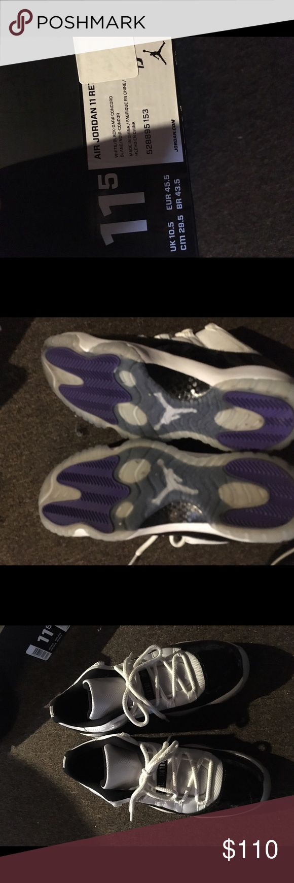 Jordan 11 Low Concords ONLY WORN ONCE, SIZE 11, ONLY THROUGH 🅿️🅿️ Jordan Shoes Sneakers