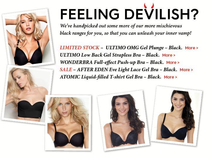 Unleash your inner vamp with these mischievous black bras!