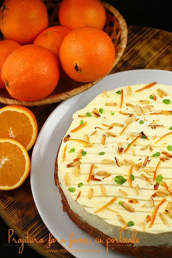 prajitura fara faina cu portocale si crema philadelphia 1