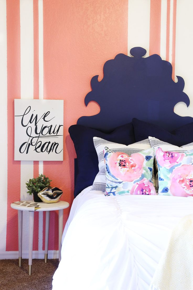 redecorating bedroom%0A  classyclutter  designed and decorated this teen u    s room as a surprise  See  how they used