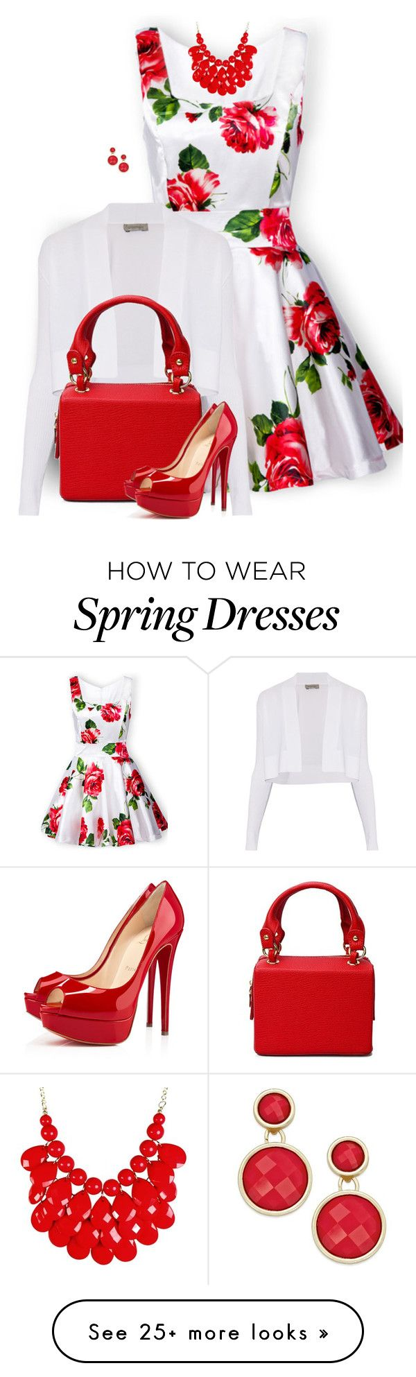 """Floral Dress"" by daiscat on Polyvore featuring Sportmax, Christian Louboutin and INC International Concepts"