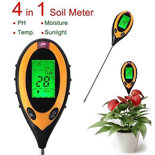 4 In 1 Electronic Soil Tester PH Humidity Temperature Analyzer >>> Read more reviews of the product by visiting the link on the image.