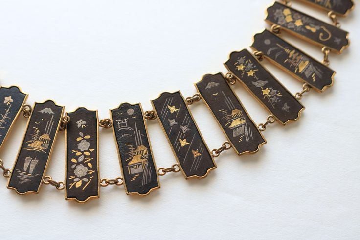 A personal favorite from my Etsy shop https://www.etsy.com/listing/520722922/vintage-japanese-damascene-bracelet