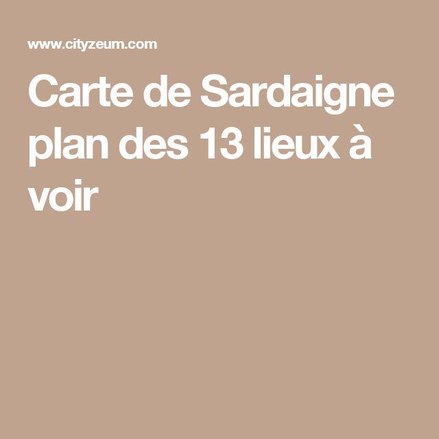 Carte de Sardaigne plan des 13 lieux à voir