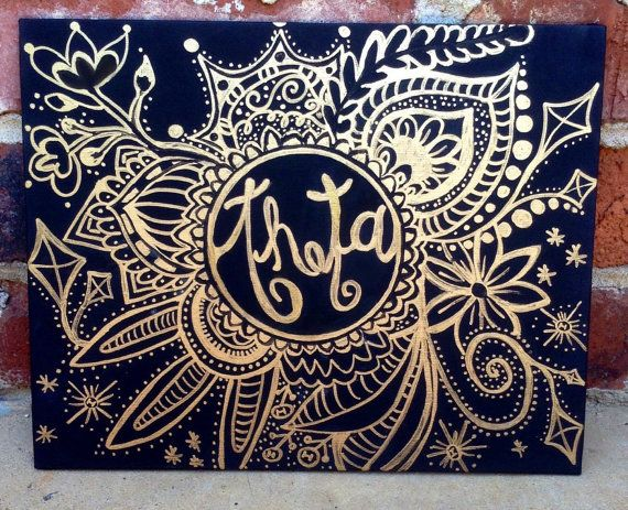 Custom Sorority Circle Drawing on Canvas by DBshoppe on Etsy