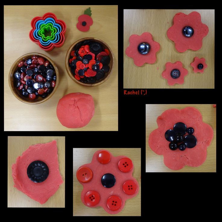 "Play Dough Poppies from Rachel ("",)"