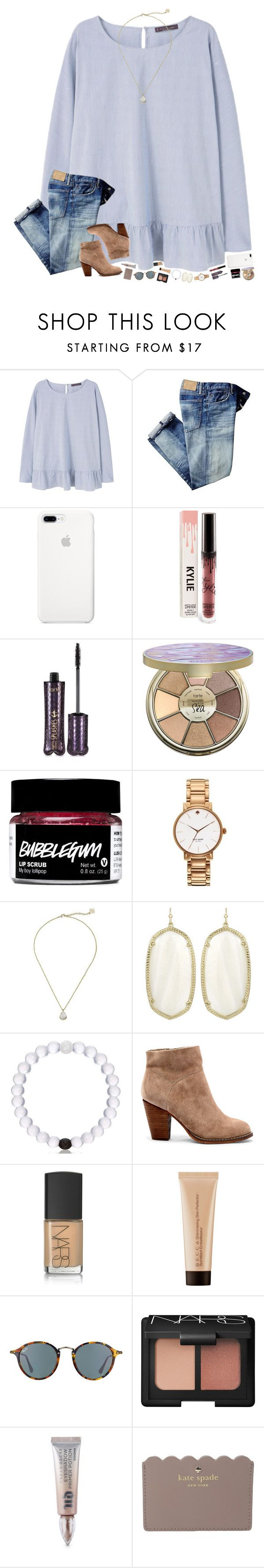 """do y'all want a Lilly haul? I went kinda crazy in the store "" by hopemarlee ❤ liked on Polyvore featuring Violeta by Mango, tarte, Kate Spade, Kendra Scott, Sole Society, NARS Cosmetics, Becca, Ray-Ban, Urban Decay and hmsloves"