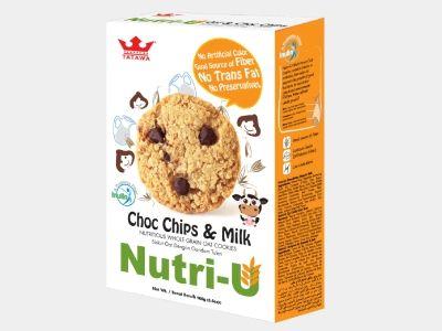 Nutri-U : Nutritious Whole Grain Oat Cookies - Choc Chips & Milk Code:TBP2003