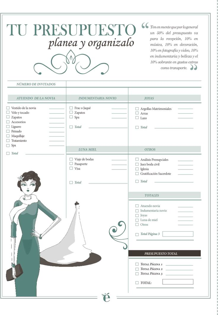 ¡No gastes de más! Organízate. #Boda #Wedding #Dinero #Presupuesto
