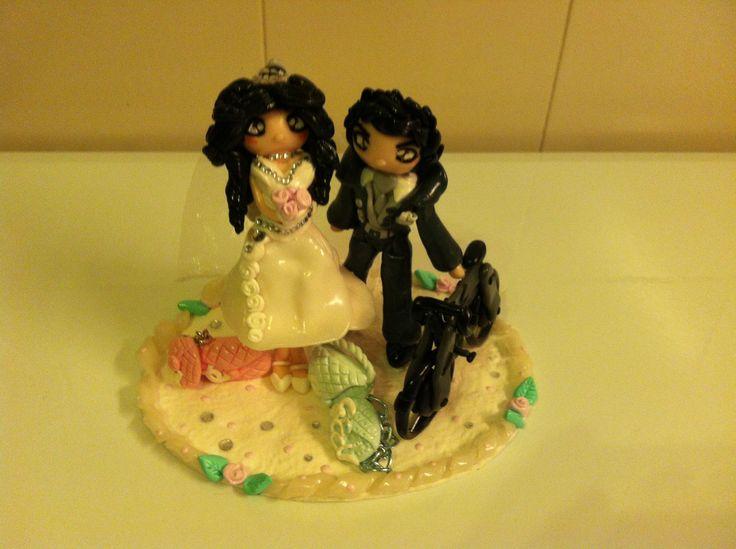 CAKE TOPPER MATRIMONIO VALENTINA <3