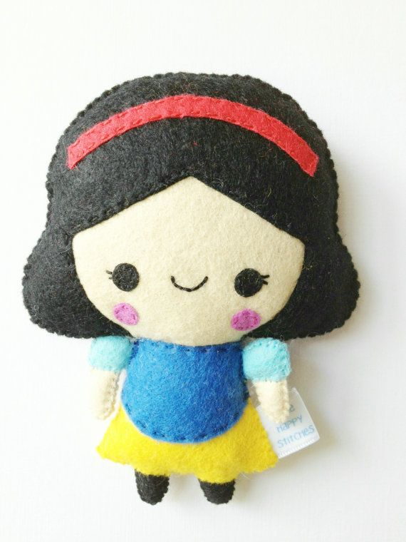 Snow White Fairytale Doll Plush by littlehappystitches on Etsy, $16.00