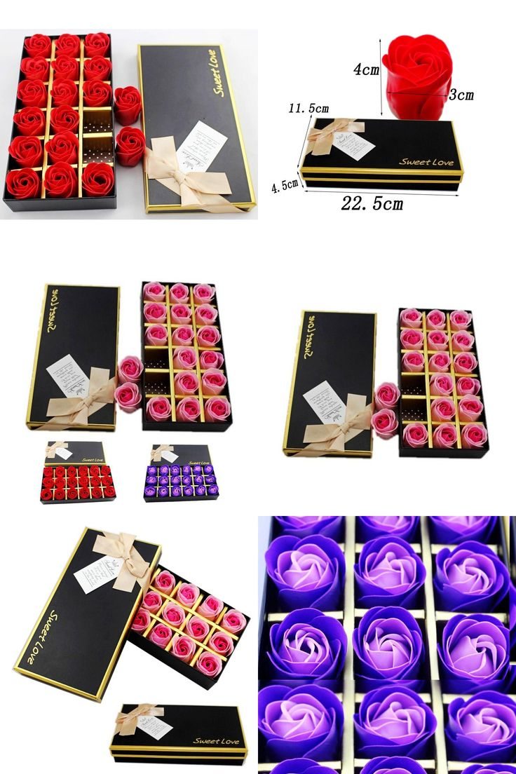 [Visit to Buy] 1Set Gift Boxed 18 Flower Rose Soap Romantic Wedding Favor Shower Home Party Christmas Birthday Valentine's Day Gifts Present #Advertisement