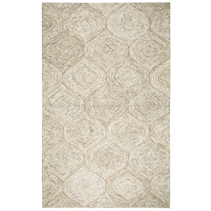 Rizzy Home Brindleton Brown Wool Hand-tufted Trellis Rug (3' x 5') (BR361A Brown 3' X 5' Hand-Tufted Trellis Rugs), Size 3' x 5'