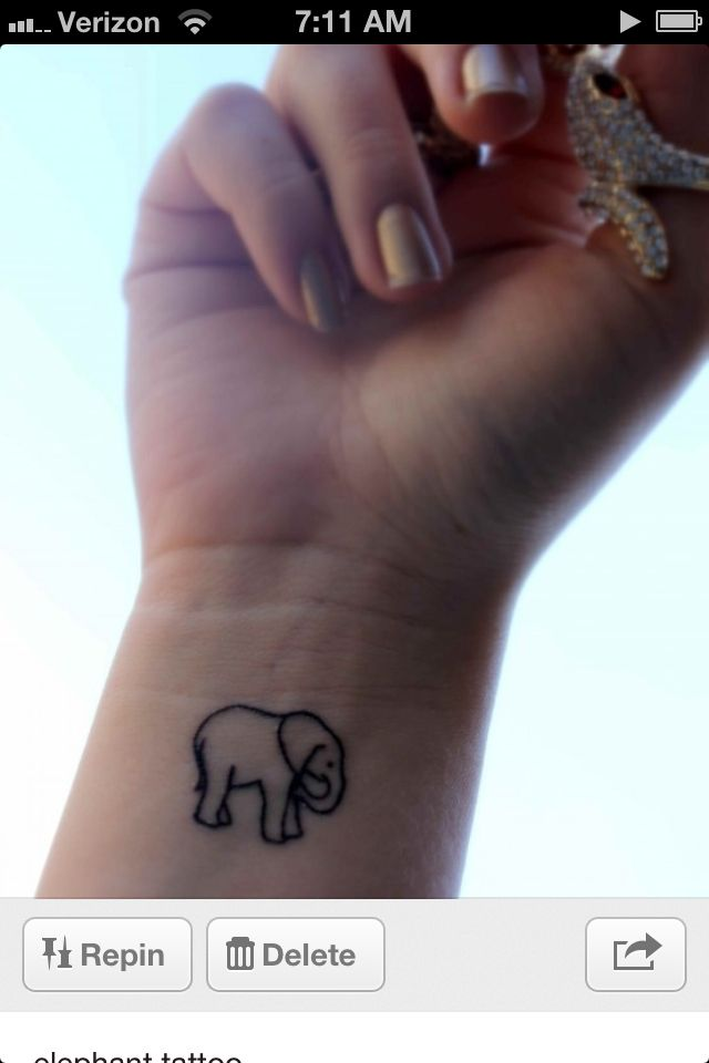 Elephant Tattoo.... but maybe on my foot