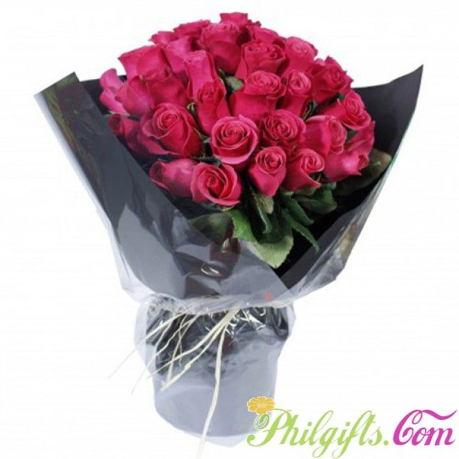 50 Bangkok Roses Happy Birthday Bouquet Flower Delivery Rose