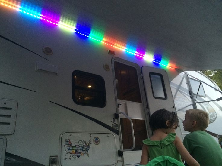 Added Led Lights Under The Awning Rv Mods Pinterest