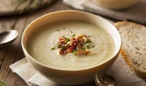 Σούπα βελουτέ με πατάτα και πράσο