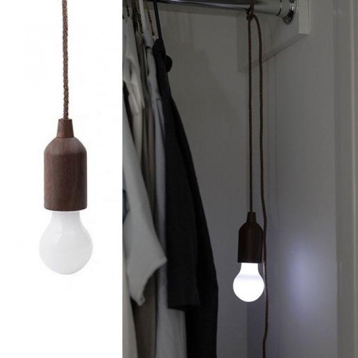 Led Lampe An Der Schnur Kabellose Gluhbirne Mit Zugschalter Led