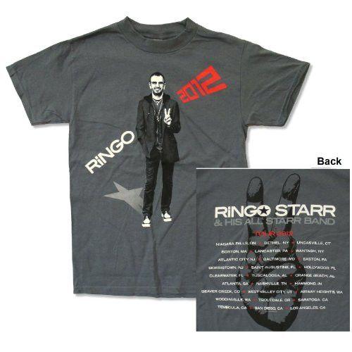"Ringo Starr ""All Starr Tour 2012"" Grey T-Shirt (Small)"
