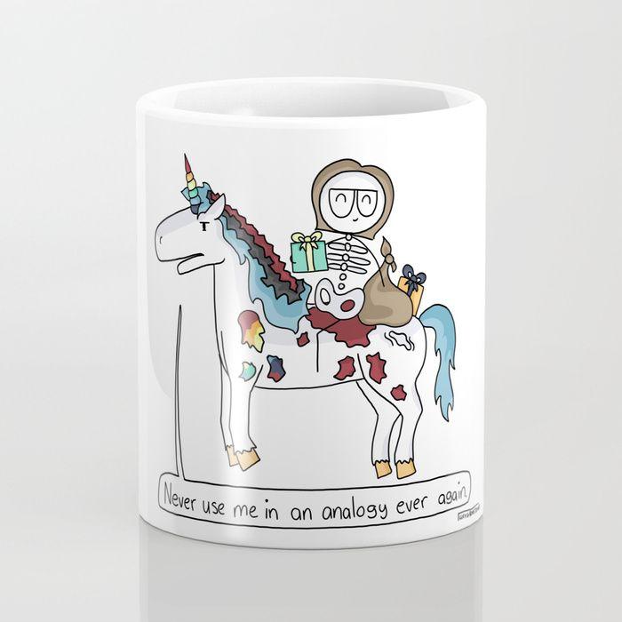 Analogy Unicorn Mug by Lucy Grove-Jones | Society6