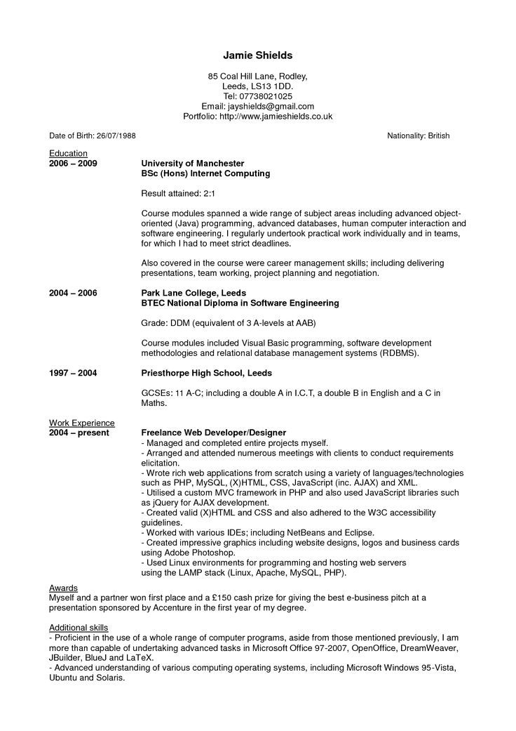 resume cover letter latex  resume and cover