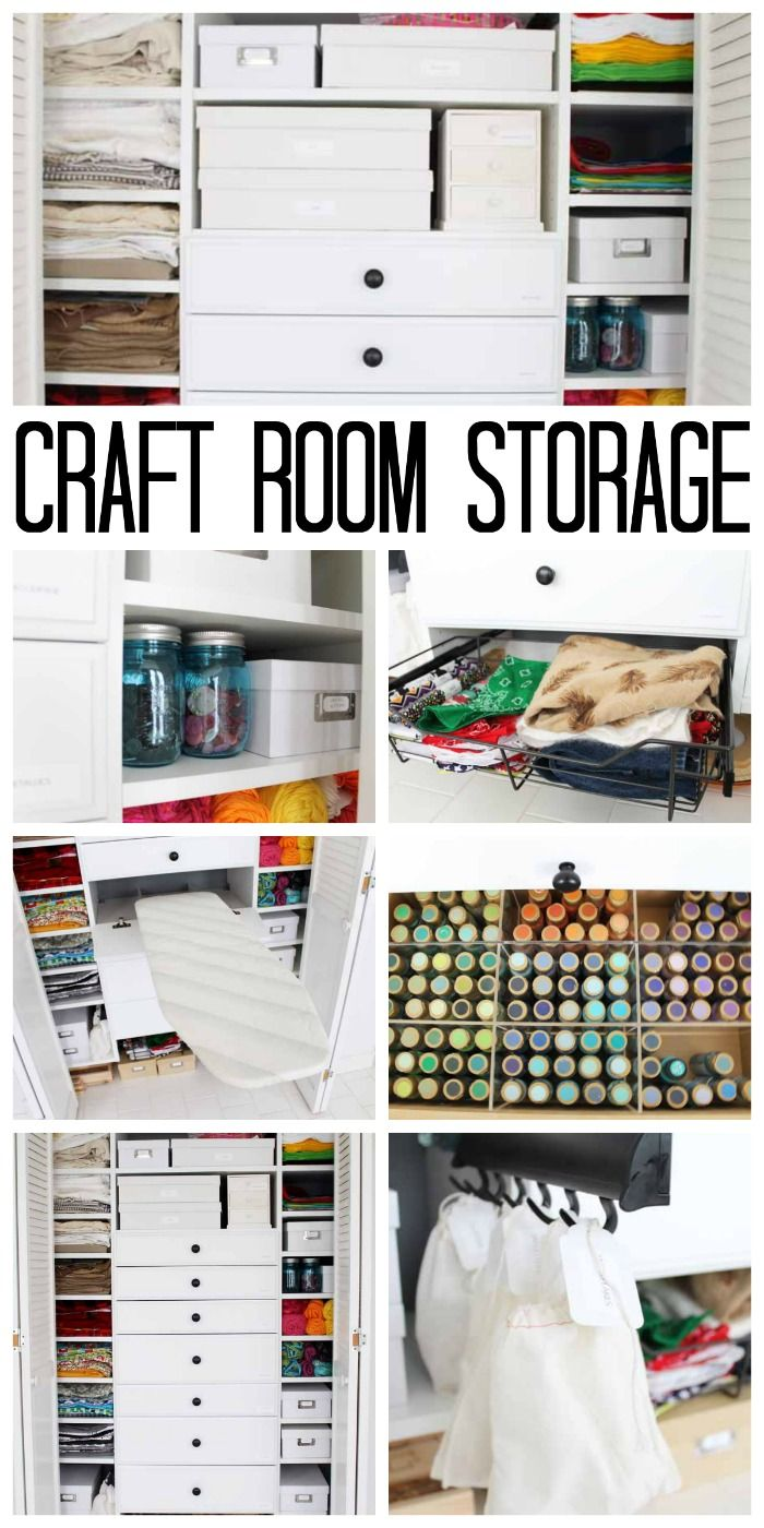 Craft Room Storage | The Country Chic Cottage - Featured at the Home Matters Linky Party 166