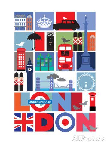 Londra Poster di Visual Philosophy su AllPosters.it