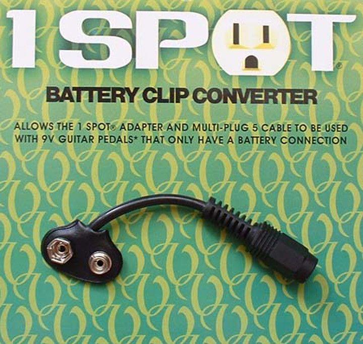 Visual Sound Battery Clip Converter for 1 Spot